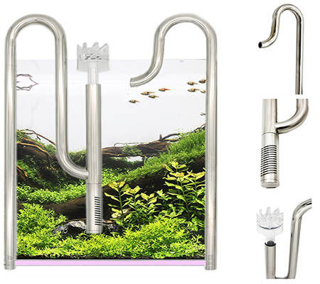 Stainless steel freshwater tank water inflow outflow adjusted below water
